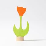 Picture of Verjaardagsring decoratie steker Tulp oranje Grimm's