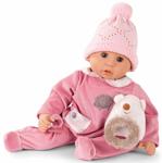 Afbeeldingen van Gotz babypop slaapogen, roze muts en egeltje