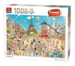 Afbeeldingen van Puzzel 1000 stukjes Parijs komisch afgebeeld King