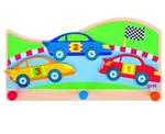 Afbeeldingen van Kapstok race auto's 3 haken