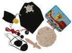 Afbeeldingen van Piratenset in blikken koffertje