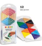 Afbeeldingen van Driehoek waskrijt 12 kleuren Primo