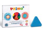 Afbeeldingen van Driehoek waskrijt 6 kleuren Primo