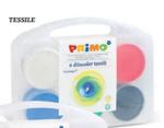 Afbeeldingen van Vingerverf Textiel 6 kleuren  100 gr in koffertje Primo