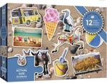 Afbeeldingen van Puzzel Samen Het Strand 12 stukjes