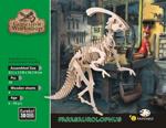 Afbeeldingen van 3d puzzel parasaurolophus dinosaurus