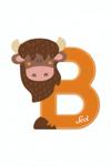 Image de Sevi dierenletter nieuw (B) bizon
