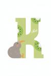 Image de Sevi dierenletter nieuw (K) kiwi