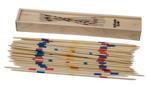 Afbeeldingen van Mikado in houten kistje met schuifdeksel