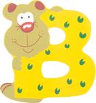 Image de Houten dieren letter B