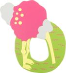 Image de Houten dieren letter O