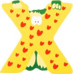 Image de Houten dieren letter X