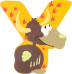Image de Houten dieren letter Y