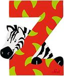 Picture of Sevi dierenletter (Z) Zebra