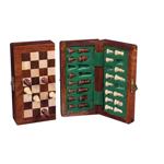 Picture of Schaakspel complete set, magnetisch, opklapbaar. Acacia hout. Hoogte koning 58 mm
