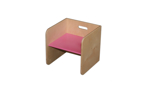 Picture of Roze kubusstoel-kinderstoel met gekleurde zitting  thuisgebruik 1-8 jaar  Van Dijk Toys