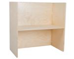 Picture of Peuter Kubustafel-Kindertafel hout blank groepsgebruik 1-6 jaar 64x64x35 cm Van Dijk Toys