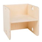 Picture of Kleutergroep Kubusstoel - blanke zitting kinderstoel hout groepsgebruik  1-8 jaar  Van Dijk Toys