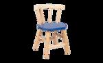 Picture of Kinderstoel, blauw zitvlak, gebogen leuning, beukenhout Van Dijk Toys