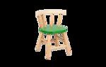 Picture of Kinderstoel,  groen zitvlak, gebogen leuning, beukenhout Van Dijk Toys