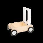 Picture of Leren loopwagen- wit Blokkenduwwagen Hout Van Dijk Toys