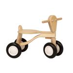 Picture of Loopfiets berken hout blank Van Dijk Toys vierwieler kinderfiets