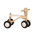 Picture of Loopfiets berken hout wit Van Dijk Toys vierwieler kinderfiets