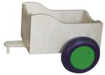 Bild von Aanhanger voor groene kinder-loopfiets berkenhout Van Dijk Toys