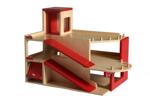 Picture of Speel-garage hout met 2 verdiepingen en lift Van Dijk Toys