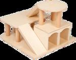 Picture of Houten speelgoed auto garage met helikopterdek blank Van Dijk Toys  Vanaf 2 jaar