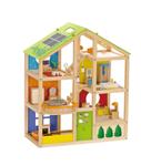 Afbeeldingen van Open houten poppenhuis inclusief meubels Hape