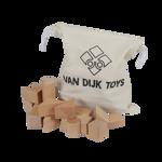 Picture of Blanke blokkenset beukenhout met opbergzak 37 stuks Van Dijk Toys