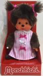 Afbeeldingen van Monchhichi meisje pink ribbon jurk 20 cm