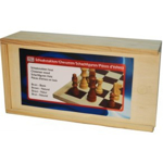 Picture of Schaakstukken hout Bruin Blank Staunton maat 3. 77 mm.