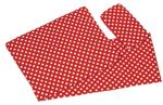 Afbeeldingen van Poppenbedsetje deken, matras en kussentje - rood witte stip Goki