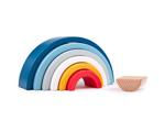 Picture of Houten FSC regenboogvormen 7 bogen stoere kleuren Bigjigs