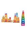 Picture of Stapel toren stapelblokken 10-delig Woody