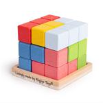 Afbeeldingen van Houten puzzel Sluit de kubus Bigjigs