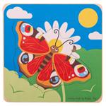 Afbeeldingen van Levenscyclus puzzel lagen Vlinder