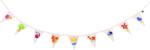Afbeeldingen van Pimp zelf je vlaggetjes slinger vlaggenlijn Goki