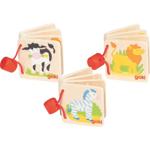 Image de Houten mini plaatjes boekjes Dieren Goki