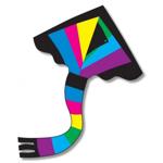 Afbeeldingen van Vlieger Delta regenboog 1 lijns 91 x 137 cm