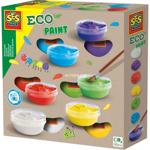 Afbeeldingen van Eco plakkaatverf 5 kleuren en wit SES