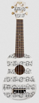Image de Ukelele gitaar 4-snaren Print Muzieknoten Calista