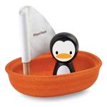 Afbeeldingen van Badspeelgoed Zeilboot Pinguin Plantoys