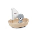 Afbeeldingen van Badspeelgoed Zeilboot zeehond Plantoys