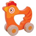 Bild von Houten grijpauto rollende kip