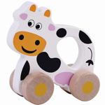 Bild von Houten grijpauto rollende koe